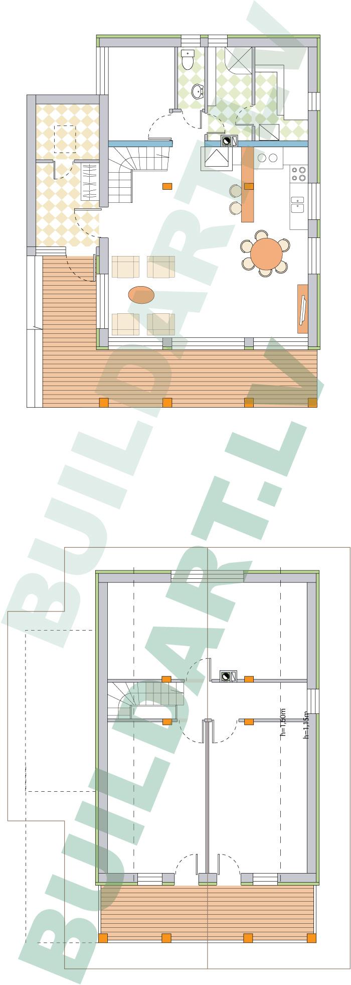 """dzīvojamās mājas projekts """"Rita 2"""" plāni 2. vers"""