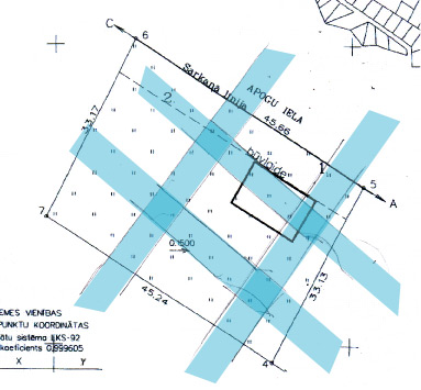 āderu plāns zemes gabalam Lielvārdē