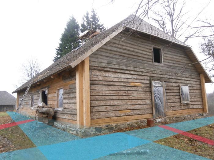 āderu noteikšana ēku grupai Vēveros