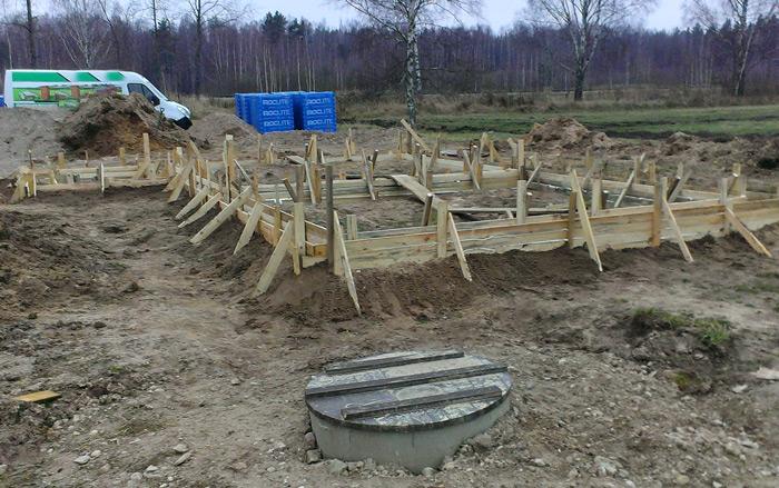 """Mājas projekts """"Ansis"""" - būvniecības procesa bildes"""