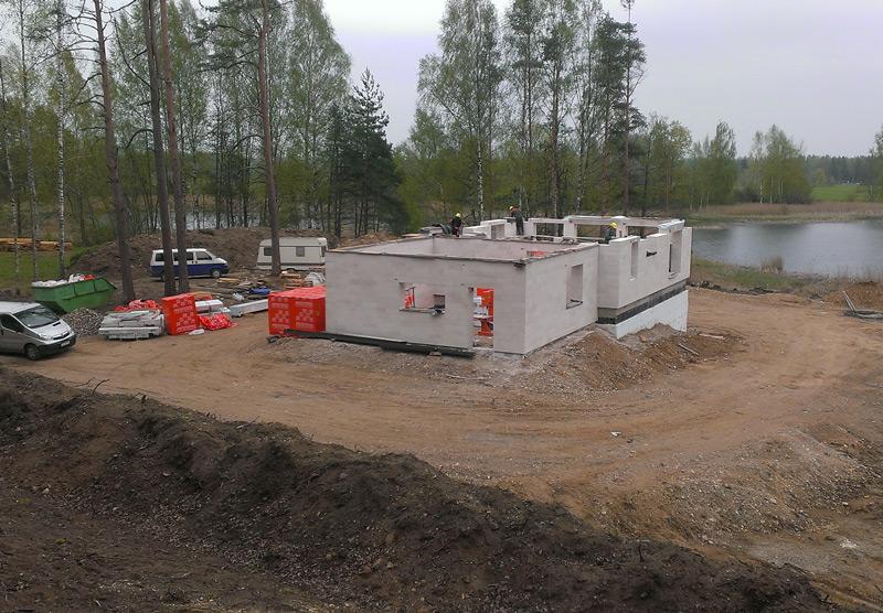 """Lielas dzīvojamās mājas projekts """"Vēsma"""" - būvniecības procesa bildes"""