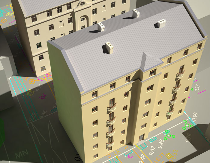 Vizualizācija dauddzīvokļu ēku rekonstrukcijai