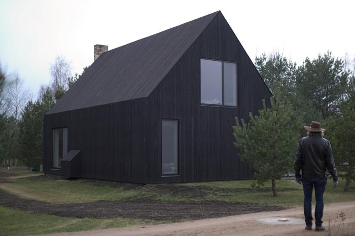 """Atpūtas mājas - viesu nama """"Sīpoli"""" projekts, uzbūvētās ēkas bildes"""