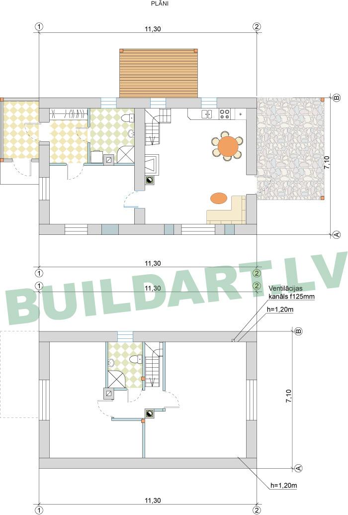 Ēkas rekonstrukcijas projekts - plāni