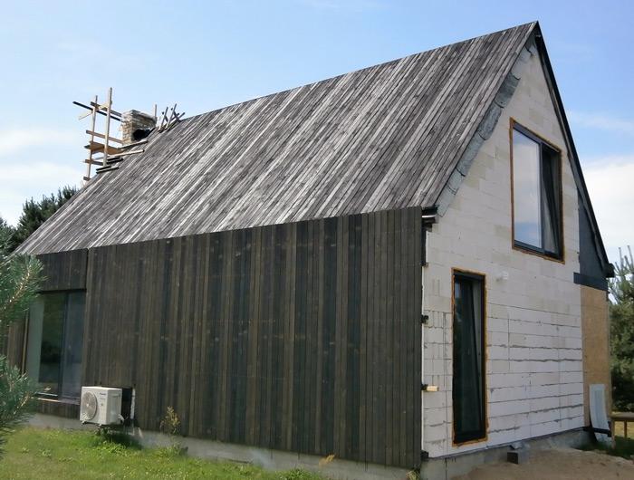 Atpūtas mājas projekts, māja uzbūvēta pašu spēkiem