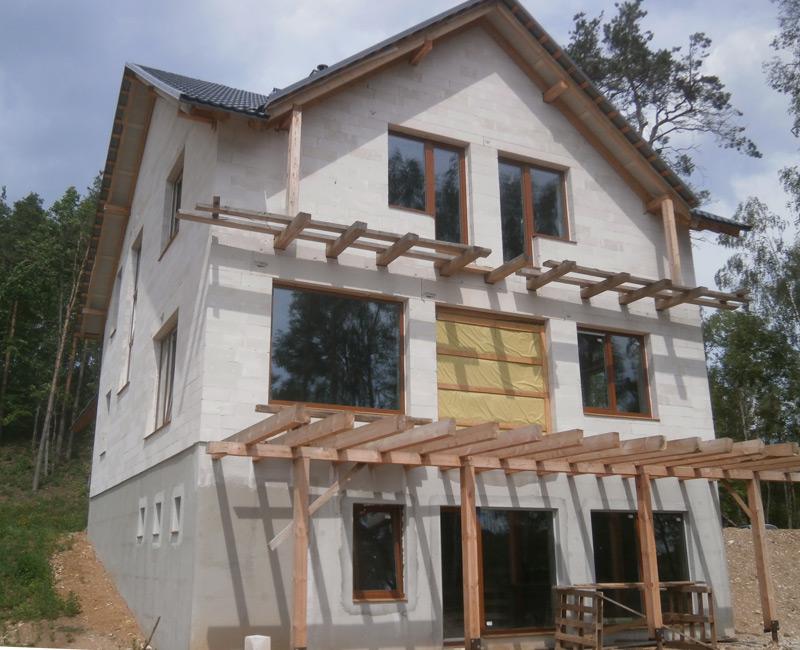 """Vērienīgas dzīvojamās mājas projekts """"Vēsma"""" - būvniecības procesa bildes"""
