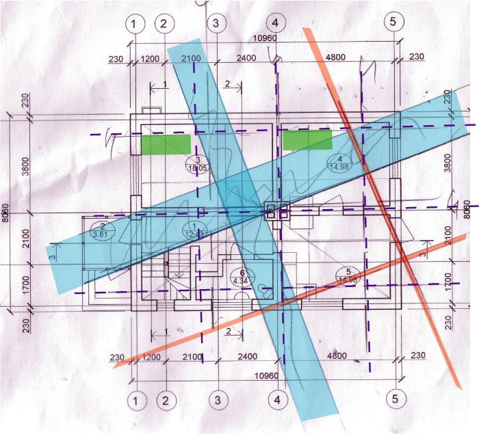 Āderu plāns mājai Sidrabenē 2