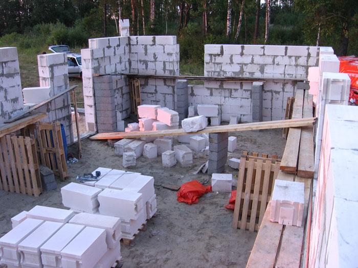 aeroc bloku mūra sienas