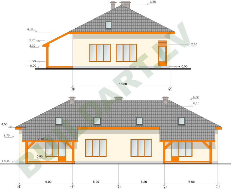 Dvīņu mājas projekts, 2x193m2