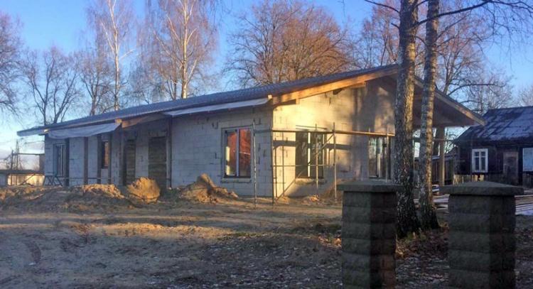 """Dzīvojamā māja vienā stāvā - projekts """"Andris"""" - uzbūvētās mājas bildes"""