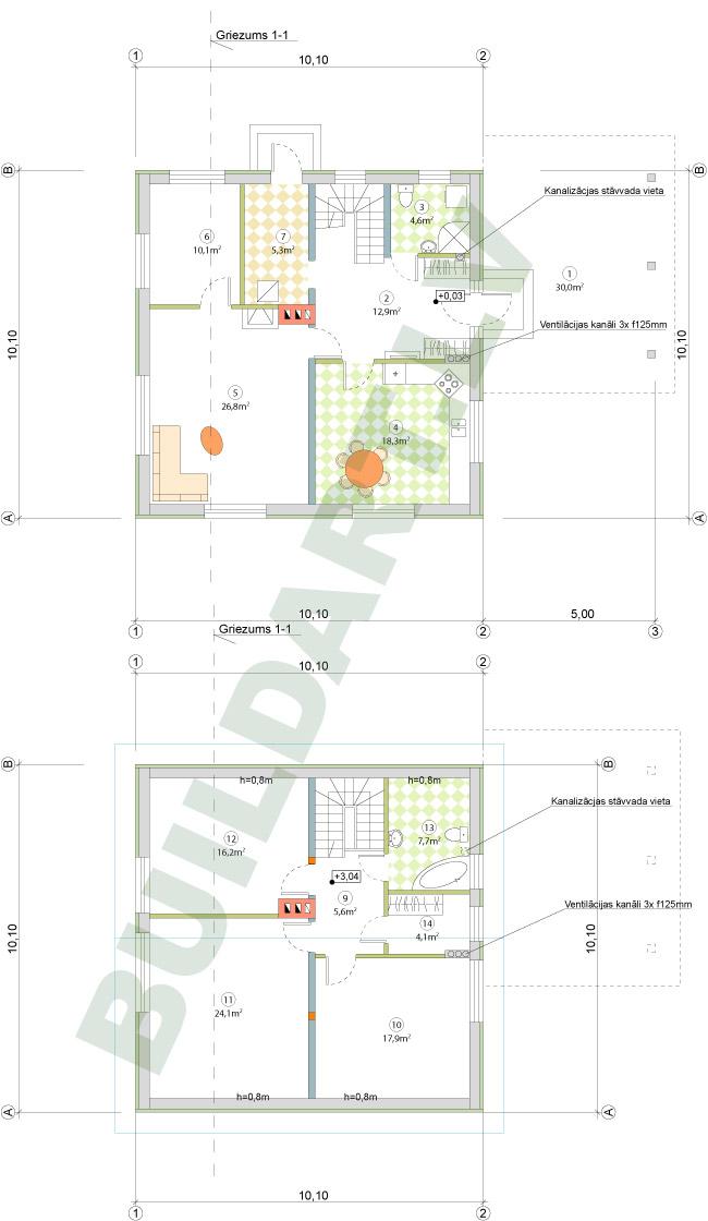 Ekonomiska ģimenes māja 140m2