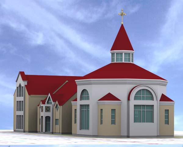 Baznīca Pārdaugavā, skiču projekts