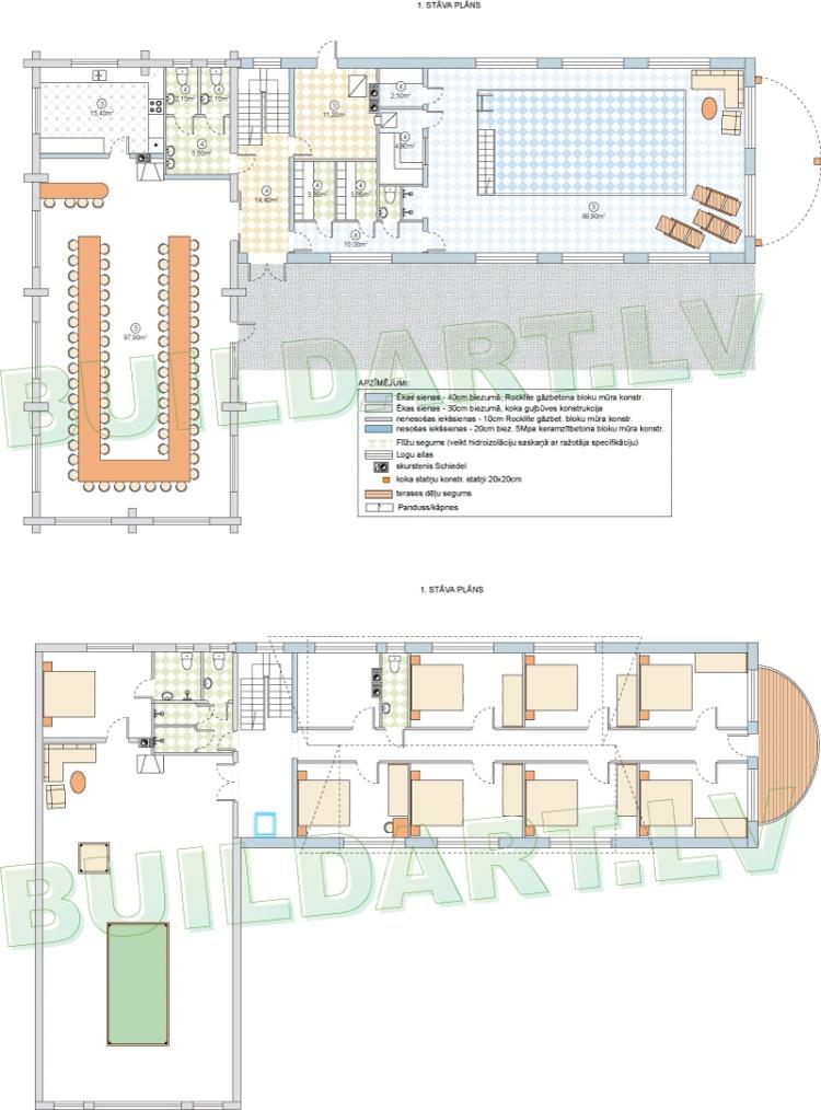 Viesunama plānsViesunama projekts - plānojums