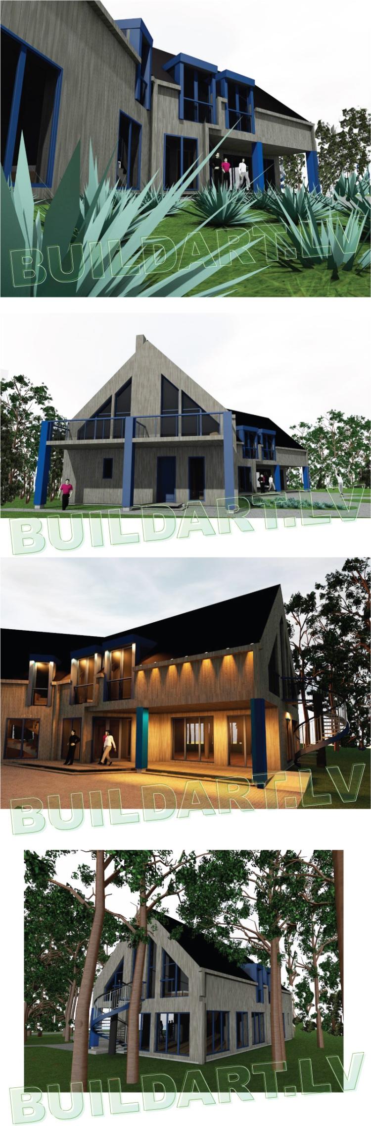 Viesu nama projekts, projekta vizualizācijas