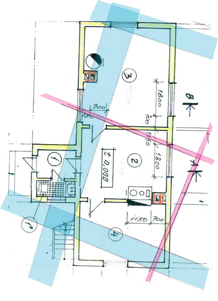 Ēkas Zemītes pagastā, āderu noteikšana, āderu plāns