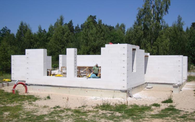 """Mājas projekta """"Valentīna"""" būvniecības process"""