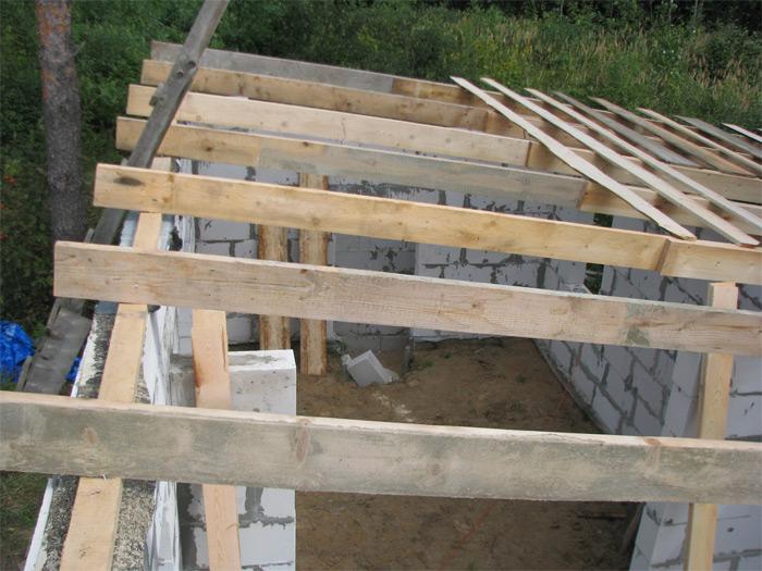 Spāres, jumta konstr. būvniecības gaita
