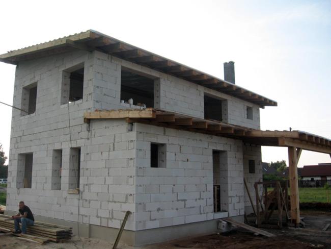 Mājas būvniecības bildes, projekts 123kvm