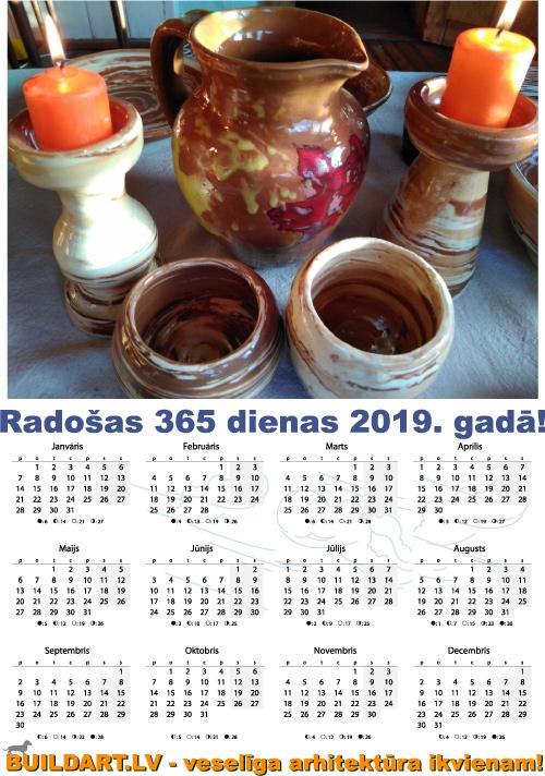 Kalendārs Buildart.lv 2019