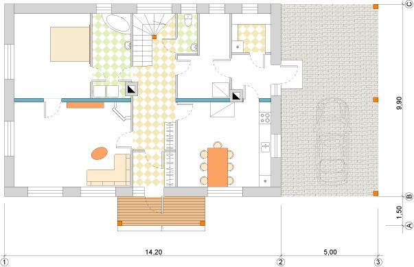 Ērta lauku māja 220m2 projekts
