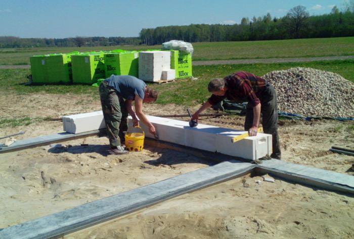 Dzīvojamās mājas projekts RITA, būvniecības process pašu spēkiem, bildes
