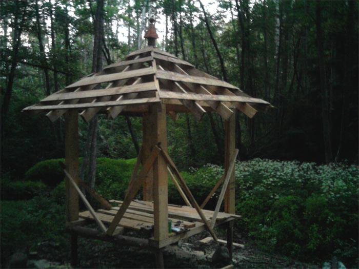 Paviljona projekts, būvniecības process