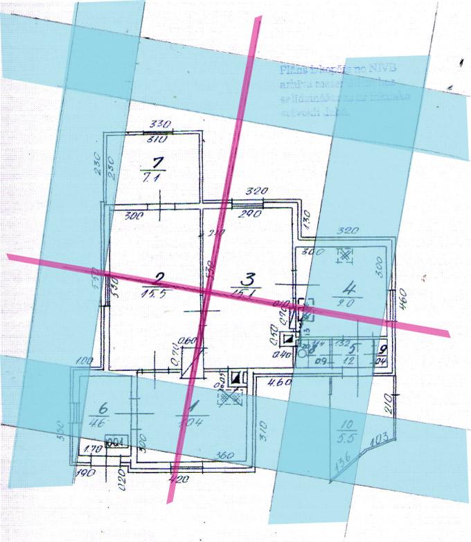 Āderu plāns dzīvojamajai mājai