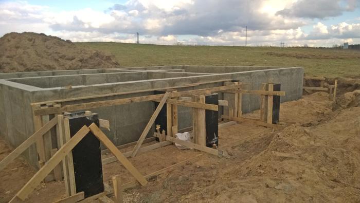 """Mājas projekts """"Aldis"""", būvniecības procesa bildes"""
