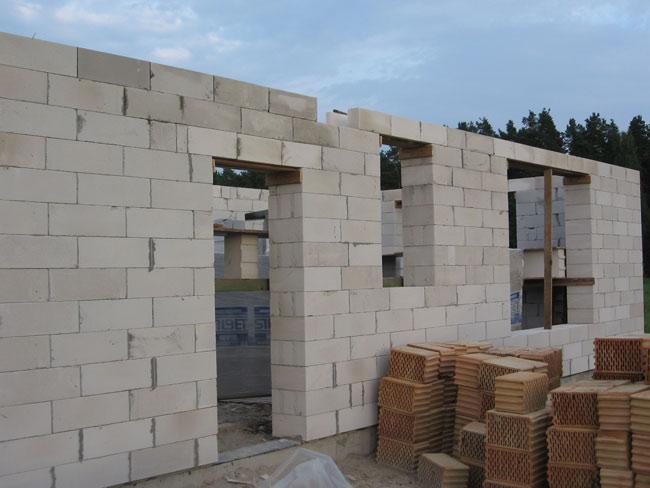 Ekonomiskas mājas projekts, būvniecība
