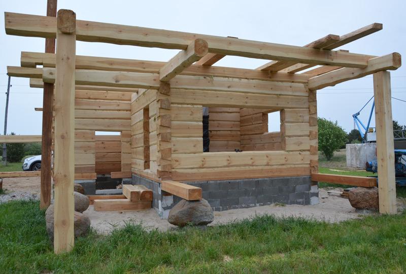 Guļbūves brīvdienu mājas projekts - ēkas fotoattēli