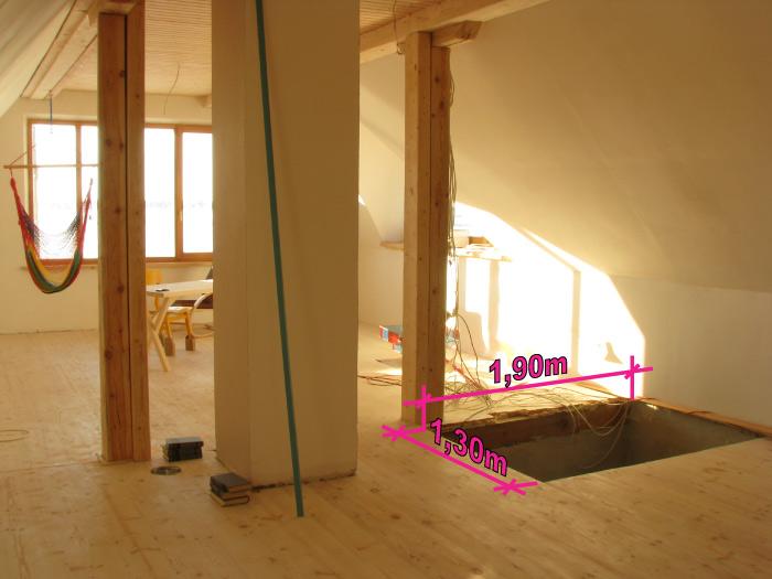 pašbūvētas vienkāaršas kāpnes, darbu process