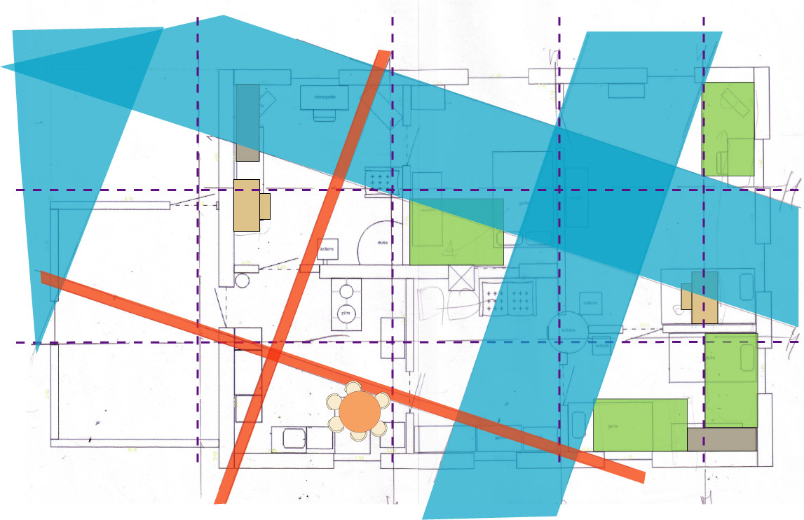 Āderu plāna noteikšana dzīvojamai ēkai Skaistkalnē