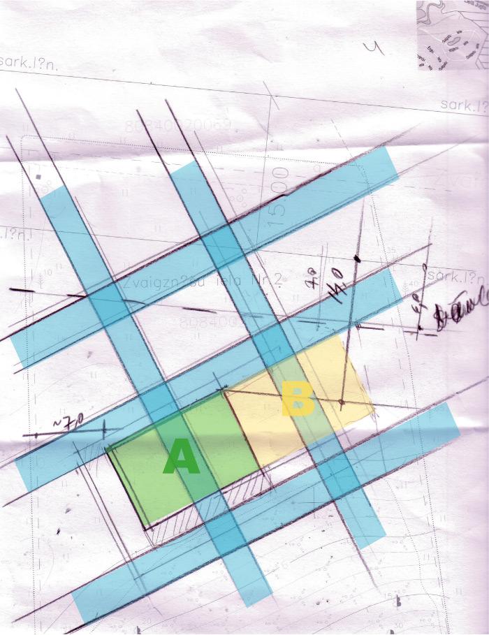 Silakrogs, Zvaigžņu iela 2, āderu plāns zemes gabalam