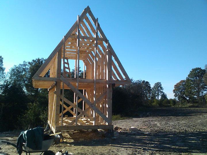 Sīkmājas projekts, sīkmāja būvēšanas procesā