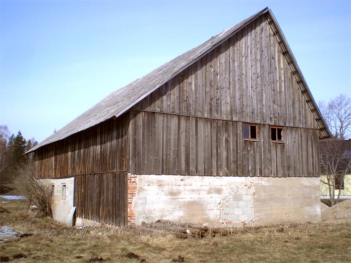 Saimniecības ēkas projekts - esošās ēkas attēli, fasādes