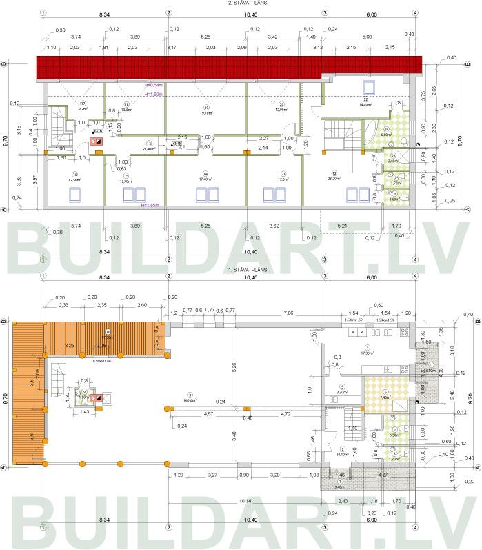 Viesu nama projekts, plāni