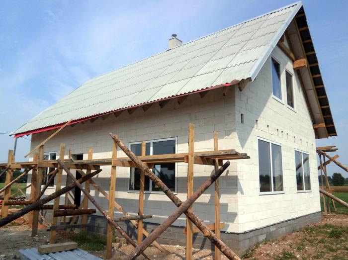 ProjektsAldis - uzbūvētās mājas bildes