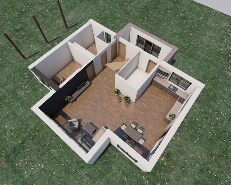 """Mājas projekta """"Aleksandrs"""" - vizualizācijas"""