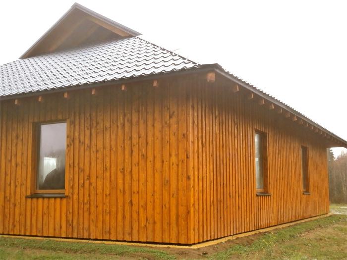 Saimniecības ēkas projekts - realizētās ēkas attēli, fasādes