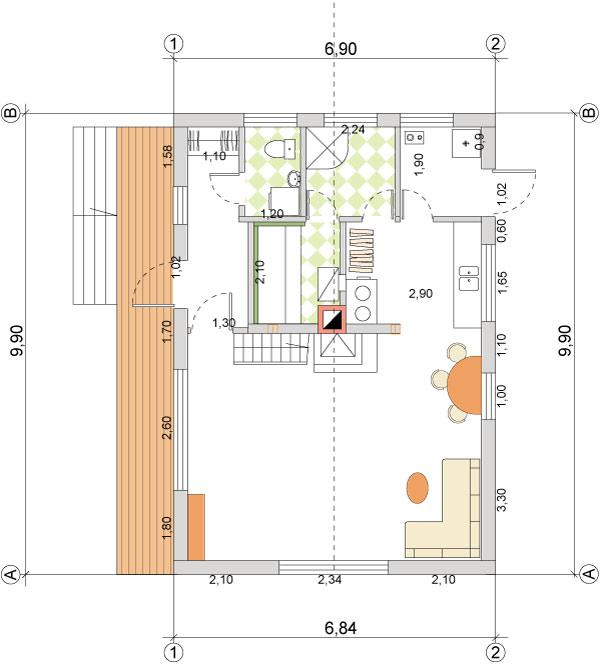 lētās mājas plāns