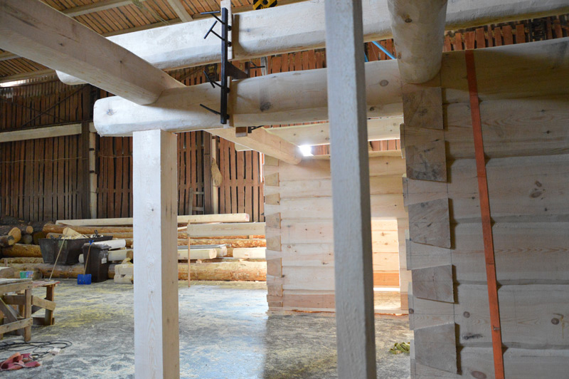Guļbaļķu brīvdienu mājas projekts - ēkas fotoattēli