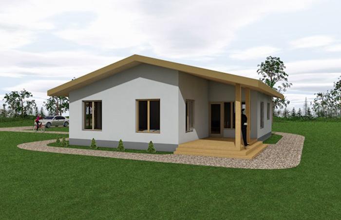 """Dzīvojamā māja vienā stāvā - projekts """"Andris"""" - projekta vizualizācijas"""