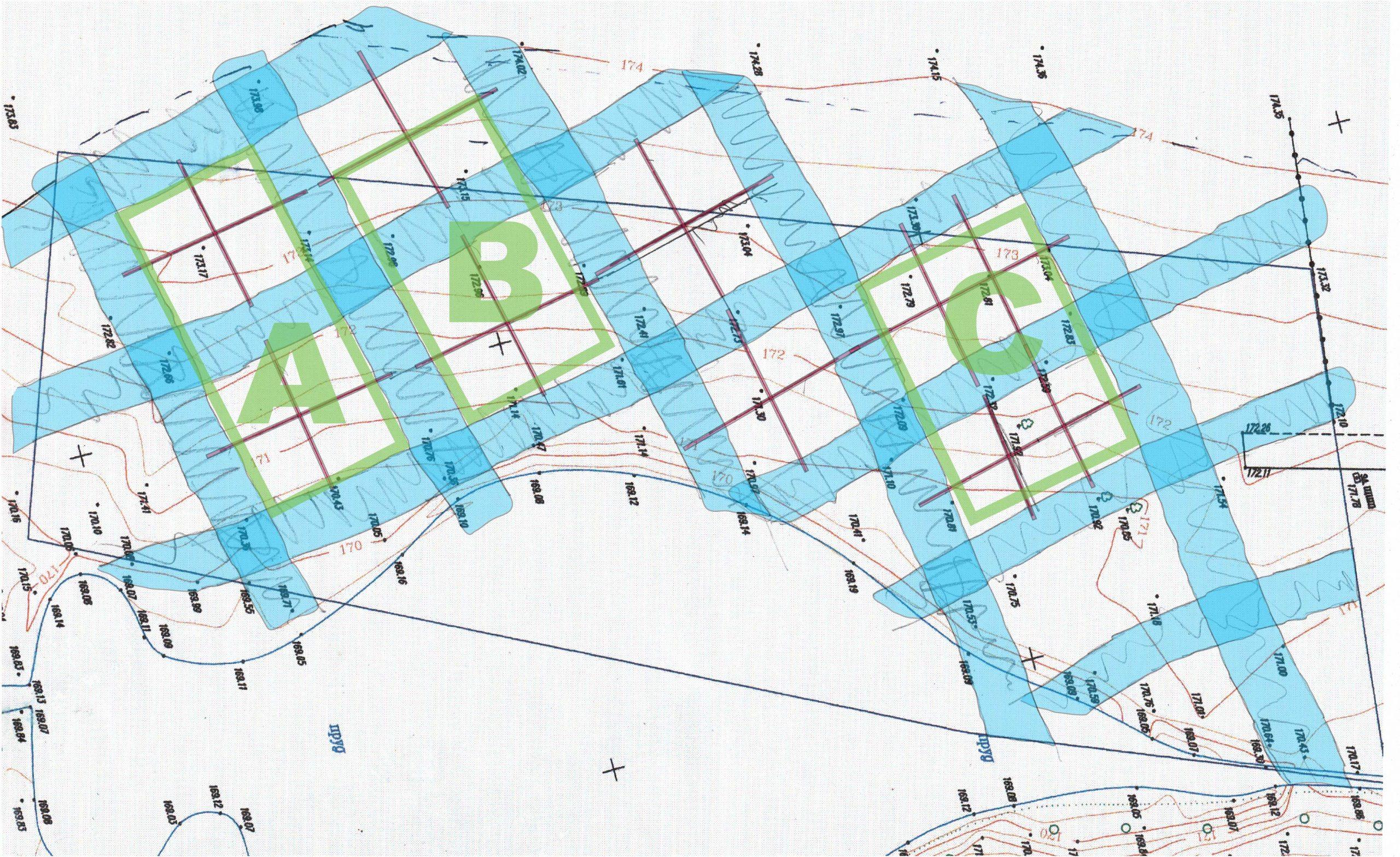 Āderu plāns zemes īpašumam Piemaskavā