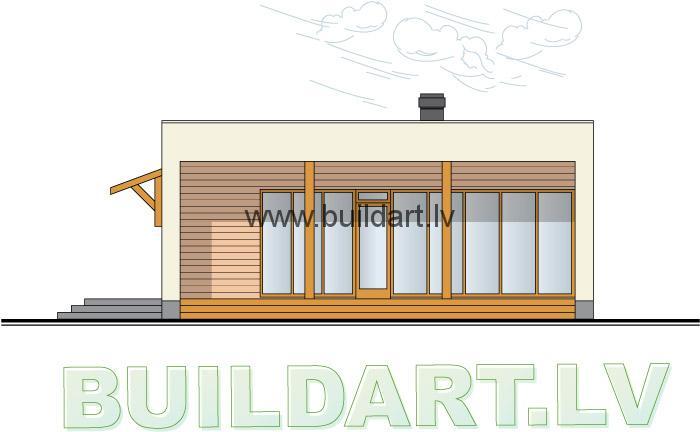 Saimniecības ēkas projekts, fasāde