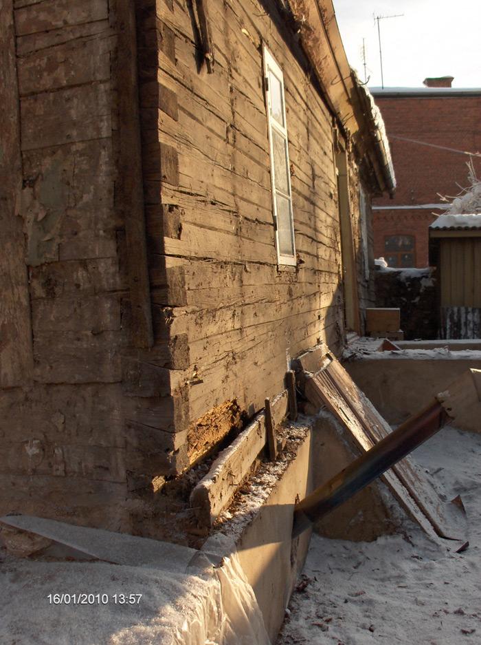 Rekonstrukcijas projekts, ēkas konstrukcijas zem apšuvuma