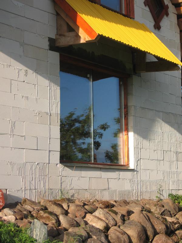 jumtiņš - marķīze telpu pasargāšanai no saules vasarā