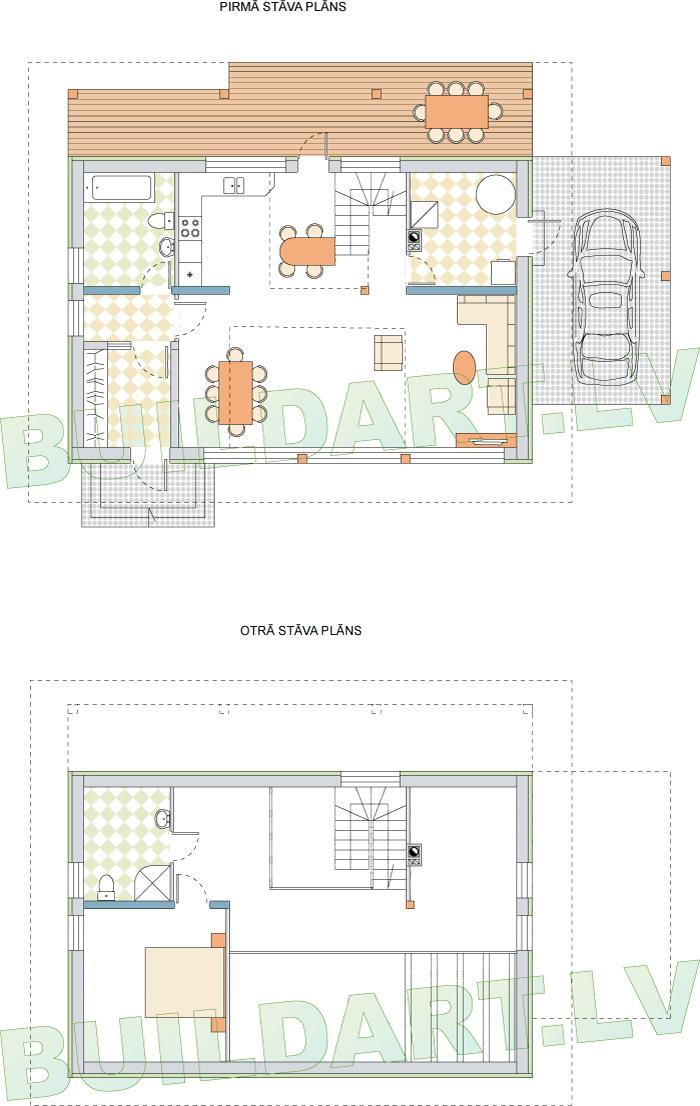 Brīvdienu mājas projekts Nr.3. Plāni