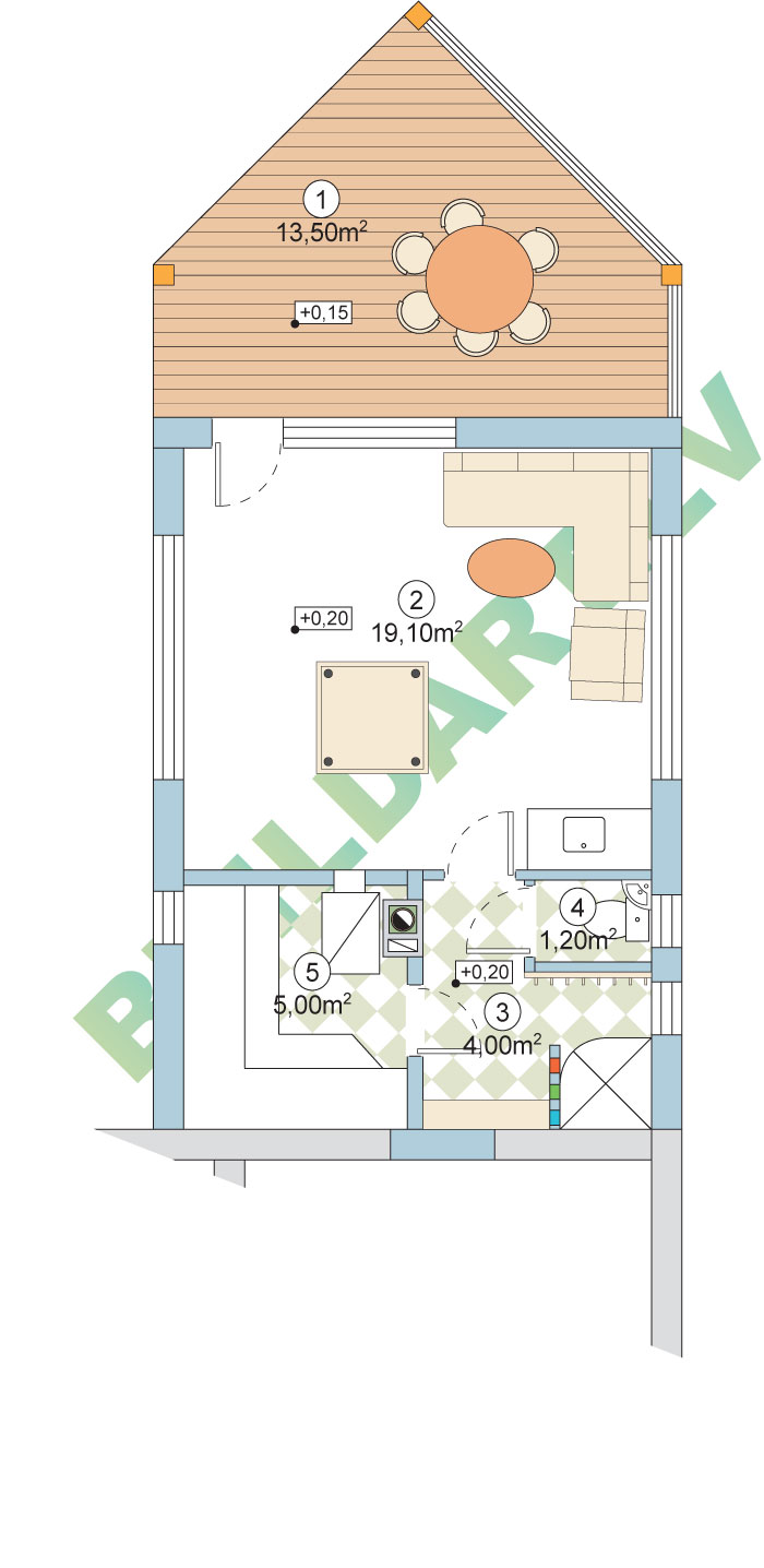 Rekonstrukcijas projekts - pirts un atpūtas telpas pie dzīvojamās mājas, plāns