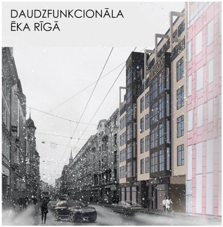 Dauddzīvokļu mājas projekts Rīgā