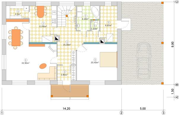 Ērta un praktiska lauku māja 220m2 projekts